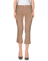 E Go Trousers 3 4 Length Trousers Women Sand