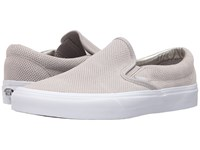 Vans Classic Slip On Perf Suede Silver Cloud True White Skate Shoes Perf Suede Silver Cloud True White