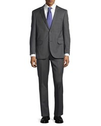 Neiman Marcus Two Piece Wool Suit Gray