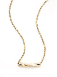 John Hardy Bamboo 18K Yellow Gold And Sterling Silver Slider Pendant Necklace