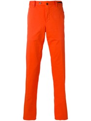 Pt01 Slim Fit Trousers Men Cotton Spandex Elastane 52 Yellow Orange
