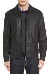 Missani Le Collezioni Men's Lambskin Leather Jacket Black