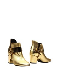 Just Cavalli Ankle Boots Gold
