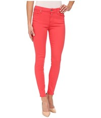 7 For All Mankind The Mid Rise Ankle Skinny In Cherry Red Cherry Red Women's Jeans