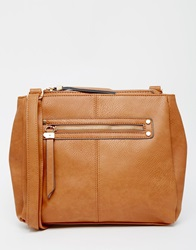 Warehouse Slouchy Crossbody Tan