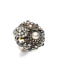 Miriam Haskell Multi Charm Ring Silver