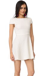 Alice Olivia Shane Cap Sleeve A Line Dress Off White