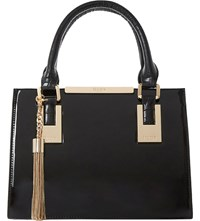 Dune Dinideedee Patent Leather Mini Tote Black Patent