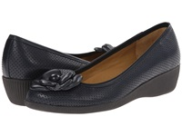 Softspots Salena Arcadia Navy Velvet Sheep Nappa Women's Wedge Shoes