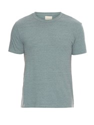Simon Miller M300 Garcon Cotton And Silk Blend Jersey T Shirt Blue