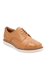 Clarks Glick Castine Leather Oxford Shoes Light Tan