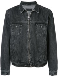 Rta Denim Zip Jacket Black