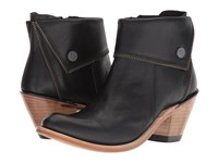 Old West Boots Zippered Ankle Boot Black Cowboy
