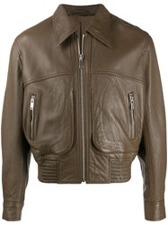 Christophe Lemaire Panelled Bomber Jacket Brown