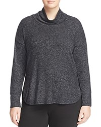 B Collection By Bobeau Curvy Sharon Cowl Neck Shirt Charcoal Grey