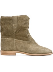 Isabel Marant 'Crisi' Concealed Wedge Boots Green