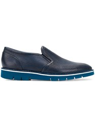 Baldinini Classic Slip On Loafers Blue
