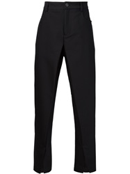 Hood By Air Slit Detail Trousers Black