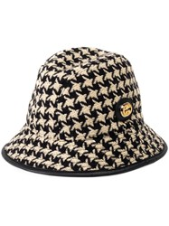 Gucci Houndstooth Fedora Hat 60