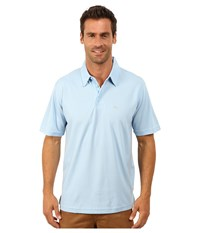 Quiksilver Waterman Waterman Collection Water Polo 2 Knit Polo Azure Men's Short Sleeve Pullover Blue