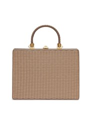 Rodo Woven Panel Leather Bag Neutral