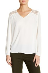 Daniel Rainn Crochet Blouse White