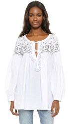See By Chloe Embroidered Tunic White
