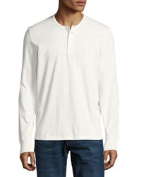 Tom Ford Cotton Henley Shirt White