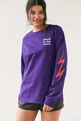 Altru Apparel Shock To The Heart Long Sleeve Tee Purple