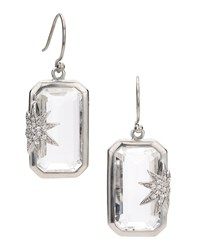 Hope Sapphire Star White Quartz Deco Earrings Elizabeth Showers Clear