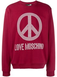 Love Moschino Peace And Sweatshirt Red