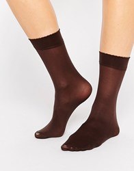 Gipsy Luxury Ankle High Two Pack Socks Chocolate Brown