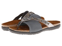 Naot Footwear Jennifer Silver Threads Leather Gray Suede Gray Stretch Women's Sandals