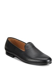 Saks Fifth Avenue Woven Smoking Slippers Black