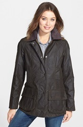 Barbour 'Beadnell' Waxed Cotton Jacket Olive