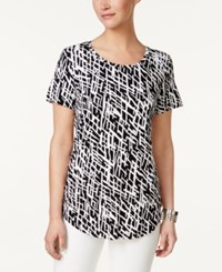 Jm Collection Printed T Shirt Only At Macy's Black Dash Deep