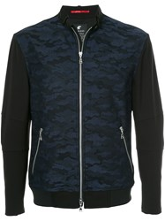 Loveless Camouflage Zipped Jacket Blue