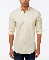 Club Room Men's Solid Long Sleeve Oxford Classic Fit Magnolia