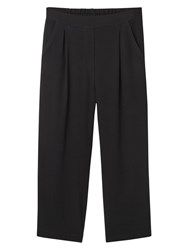 Mango Cropped Trousers Black