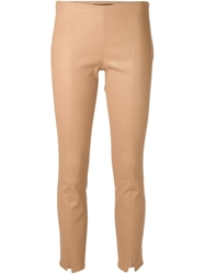 The Row 'Delors' Skinny Trousers Nude And Neutrals