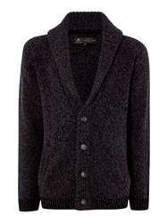 Label Lab Harbury Chunky Knit Cardigan Charcoal