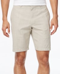 Club Room Men's Micro Check Flat Front Shorts Only At Macy's Khaki