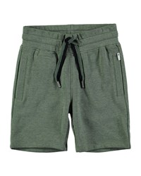 Molo Akon Cotton Blend Drawstring Shorts Size 4 10 Green