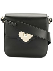 Emporio Armani Twist Lock Shoulder Bag Black