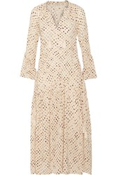 Ulla Johnson Lotte Printed Silk Crepe De Chine Maxi Dress Beige