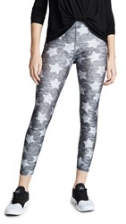 Terez Heathered Stars Performance Leggings Heather Grey