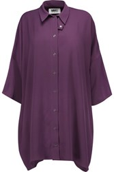 Maison Martin Margiela Mm6 Crepe Shirt Purple