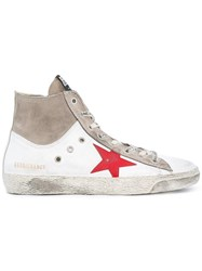 Golden Goose Deluxe Brand Francy High Top Sneakers White