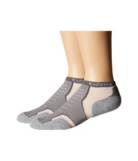 Thorlos Experia No Show Single Pair Grey No Show Socks Shoes Gray