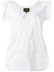Vivienne Westwood Anglomania Shortsleeved Blouse White